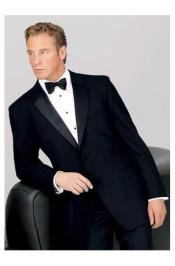 Big and Tall 2 Button Notch Tuxedo 100% Worsted Wool for Big