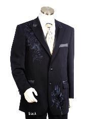 Two Button Suits Black