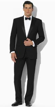 Lauren Lawrence Two Button Slim Fit Tuxedo