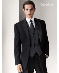Calvin Klein Radnor Two Button Black Tuxedo