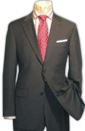 Mens 2 Button Charcoal Gray Super 150s Wool Dress Business ~ Wedding