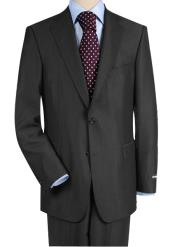 Construction Two-Button Darkest Charcoal Gray Suit