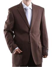 Mens Two Button 2 Button Jacket Cocoa Dress Cheap Priced Business Suits