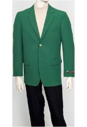 green Mens Classic Brass buttons Blazer Sport Jacket