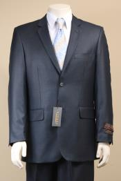 2 Button Textured Mini Weave Patterned Shiny Sharkskin Dark Navy Suit