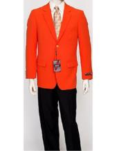 Pacelli Mens Classic Orange Blazer Jacket Blair
