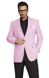 Stylish Two Button Jacket Pink Blazer Sport Coat