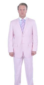 Mens Pink Suit 2 Piece affordable suit online sale