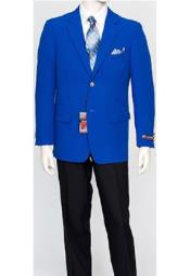 Mens Classic Royal Blue Blazer Jacket