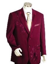 Two Button Suits Wine