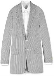 seersucker ~ sear sucker ~ sear sucker ~ sear sucker White & Black~Gry Stripe ~ Pinstripe Suit