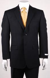 Big and Tall 2 Button Wool blazer without pleat flat front Pants