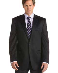 2 Button Black Cashmere Fit Sport Coat Black