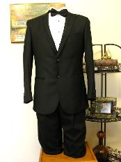 2 Button Groove Lapel Tuxedo Jacket and Pant Combination