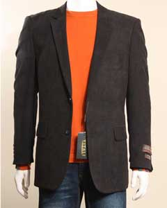 2 Button Black Sport Coat/ Sport Jacket / Blazer Jacket with Side Vents Black