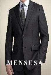 Black 2 Buttons premier quality italian fabric Mens Suits Super 100s