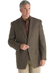 2 Button Designer Casual Cheap Priced Fashion Blazer Dress Jacket Brown Check Sport Coat