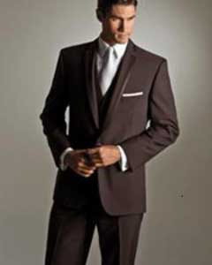 2 Button Brown Vested