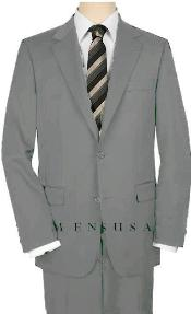 Button Light Gray Suit