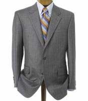 904E Mens Medium Gray 2 Button Double Vented Jacket + Flat