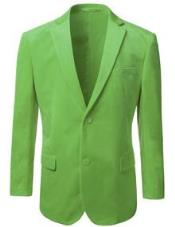 Nardoni Brand Mens American Regular-Fit 2 Button Velvet Blazer Green