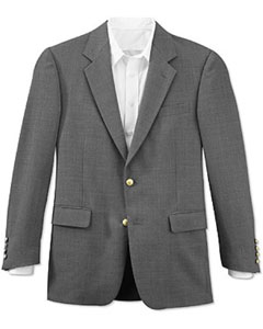 Season Grey 2 Button Front 4 On Sleeves Fully Lined Metal Button Cheap Priced Unique Dress Blazer
