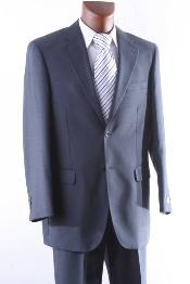 2 Button 100% Wool mid Suit Single Pleat Pant Mid Grey