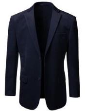 Mens American Regular-Fit 2 Button Velvet Mens Wholesale Blazer  Navy