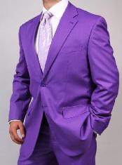 Mens Two Button Light Purple ~ Dark Lavender Suit