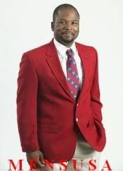 Mens RED 2 Button Sport Coats/Cheap Unique Dress Cheap Priced Blazer Jacket