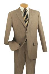 Mens 2 Button Suits Tan ~