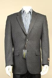 2 Button Sport Coat / Sport Jacket / Blazer with Side Vents Grey Taupe