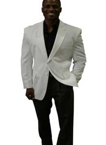 2 Button Style jacket White Color Cheap Priced Unique Fashion Designer Mens