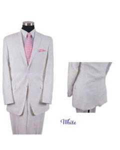 White 2 Button Elbow Patch sleeve Linen/Cotton Mens Summer Blazer Suit/Sportcoat