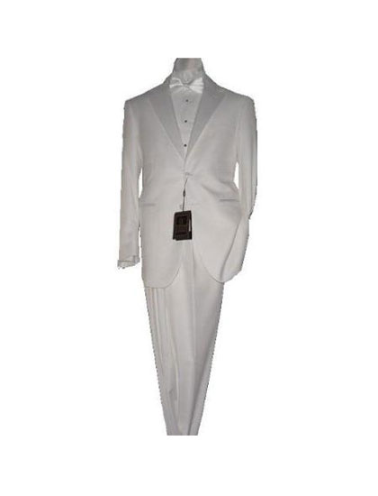 2 Button Tuxedo Super 150s Fabric unhemmed unfinished bottom