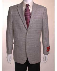 Houndstooth Black and White Birdseye Blazer For Men