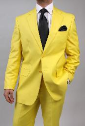 Two Button Yellow Suit