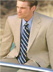 Groomsmen Suits Lightest Tan ~ Beige 2 Buttons Super 100s Wool Feel