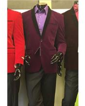 shawl Lapel Velvet Mens blazer Available In Purple Tuxedo / Mens