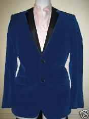 Dark Blue Two Tone Trimming Notch Collar Mens blazer Jacket