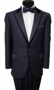 Tazio Velvet Trim Fancy 1 Button Fashion Tuxedo Jacket / Blazer Mens / Tux / Dinner Jacket