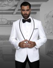 Fashion Tux by Statement Suits Clothing Confidence Genova White