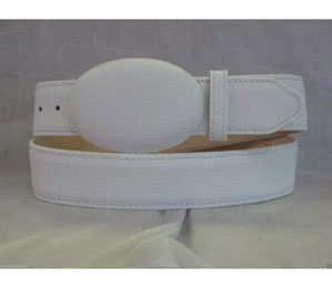 Authentic White Deer Western Cowboy Belt