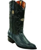 White Diamonds Handcrafted Genuine Ostrich Leg Blue Jean Boots