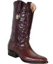 White Diamonds Leather Insole Genuine Lizard Brown Boots