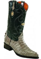 Mens White Diamonds Handcrafted Leather Lining Genuine caiman tale Gray Boots