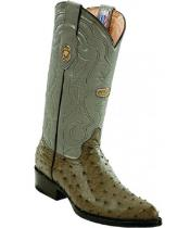 White Diamonds Leather Pull Straps Genuine Full Quill Ostrich Gray Boots