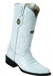 White Diamonds Replaceable Heel Cap Genuine caiman tale White Boots
