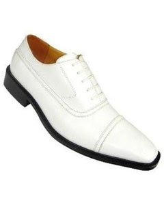 Mens White Ivory Cream Dress Shoes and White Leather Boots