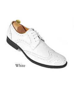 SKU#SD25 Mens White dress shoes